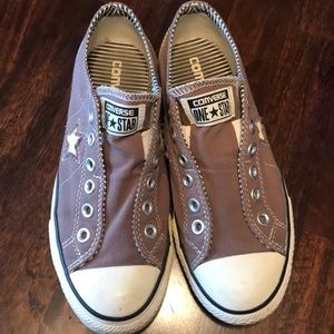 Converse one star slip ons